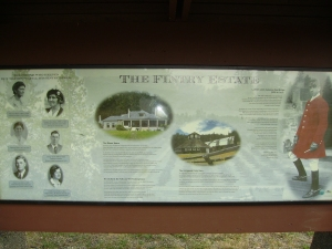 Information sign about the history of the park.