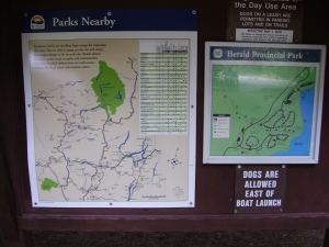 Information and a small map of Herald Park